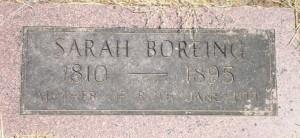Sarah Boreing stone