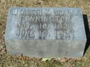 Grandma Pennington headstone