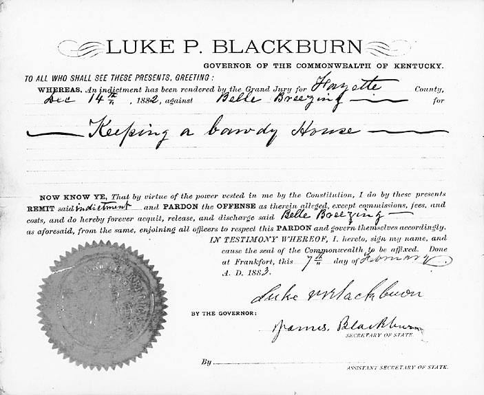 Pardon_of_Belle_Brezing_by_Luke_Blackburn_(1882)